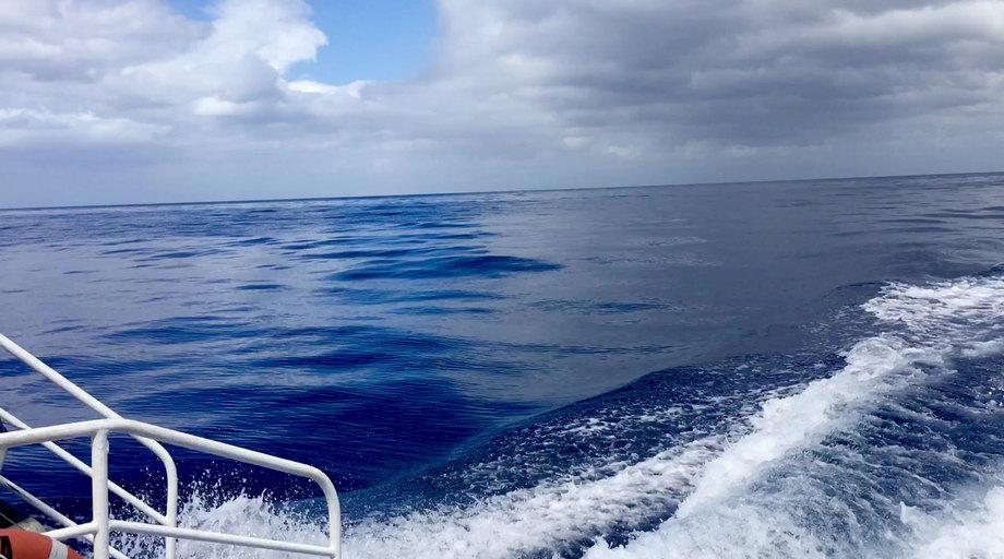 Unterwegs mit dem Boot mit Sicht auf Basse-Terre