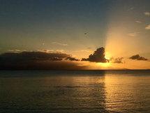 Sonnenuntergänge auf Grande-Terre
