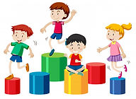 four-kids-playing-together-isolated-whit