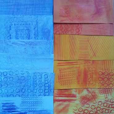 Frottage monocolore