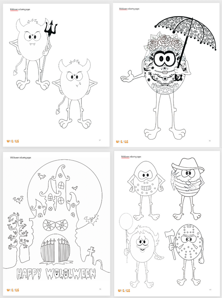 Halloween Wolols colouring pages.png