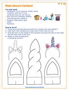 Wolols Unicorn hairband craft guide web