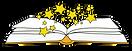Libro abierto con estrellas.png