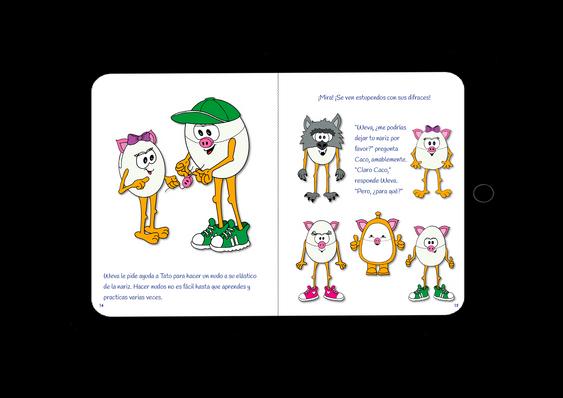Ipad Pag. 14 y 15 Los Cerditos y Dj Lobo - Wolols