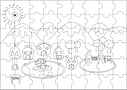 The Nest Wolols colouring jigsaw puzzle.