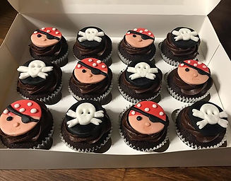 Some very fun pirate themed cupcakes, as