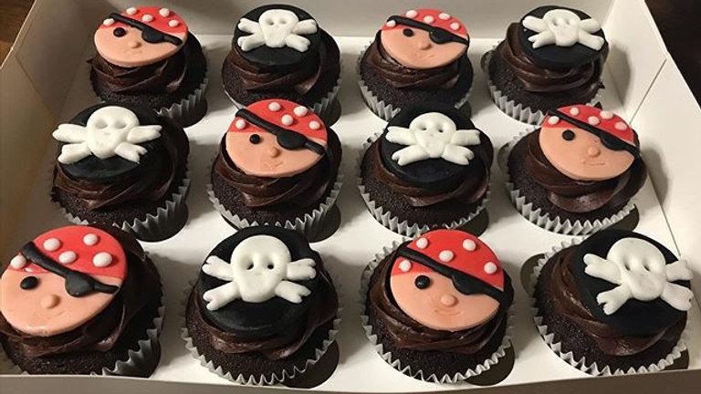 Fondant decorated cupcakes
