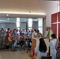 Messe de fête de fin d'année paroissiale, à Marolles (juin 2019)