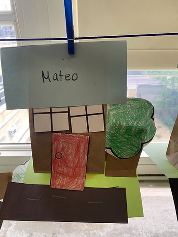 Student Art work of a house and tree