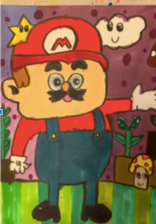 MArio character drwawing student project