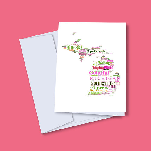 Spring 'Michigan Words' Card