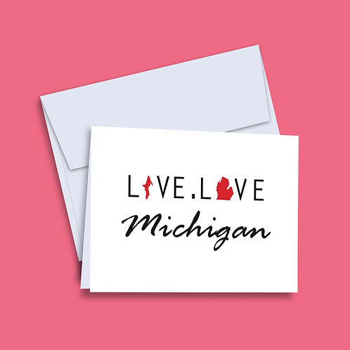 'Live Love Michigan' Card