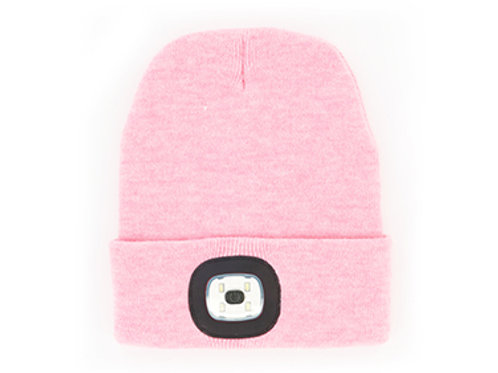 Pink Womens Night Scope Brightside Rechargeable LED Beanie