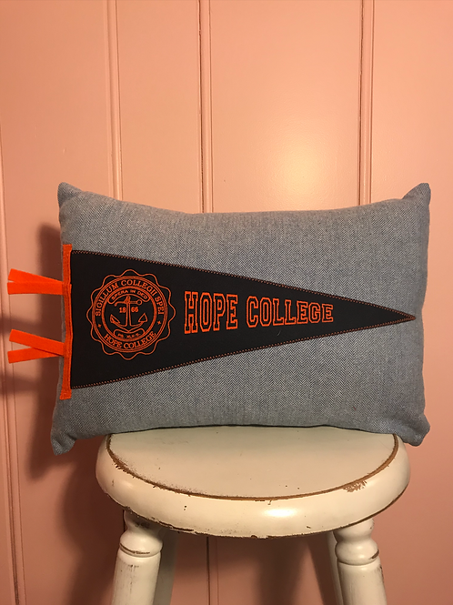 Hope College Pennant Pillow