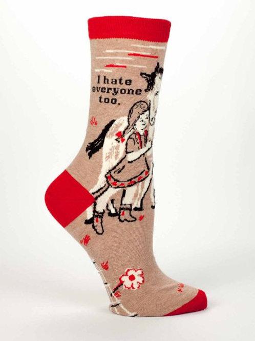 'I Hate Everyone Too' Women's Socks