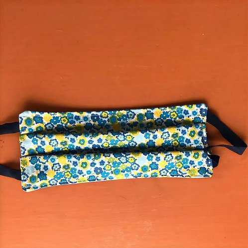 KIDS Blue and Yellow Flowers Mask Elastic