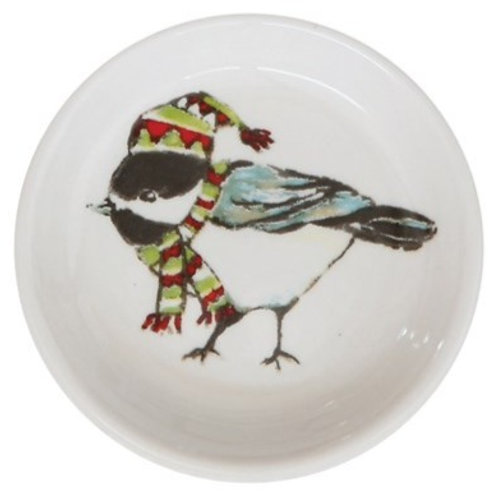 Bird with Multi Color Hat Trinket Dish