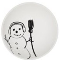 Snowman with Broom  bowl