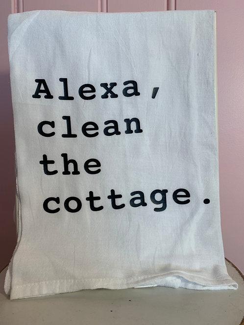 """Alexa, clean the cottage."" Kitchen Towel"