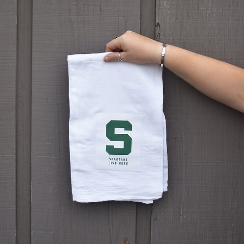 'Spartans Live Here' Kitchen Towel