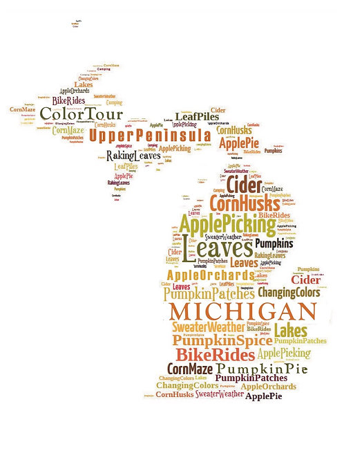 Fall 'Michigan Words' Artwork
