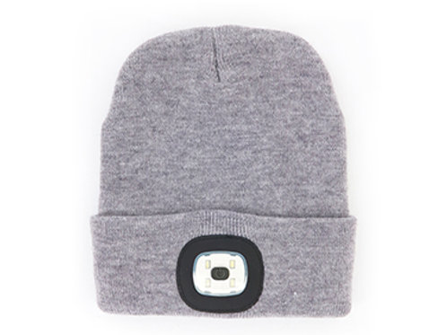 Gray Women's/Unisex Rechargeable LED Beanie