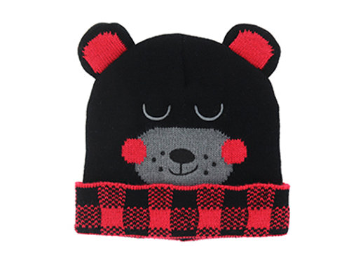 Kid's Bear Knit Hat