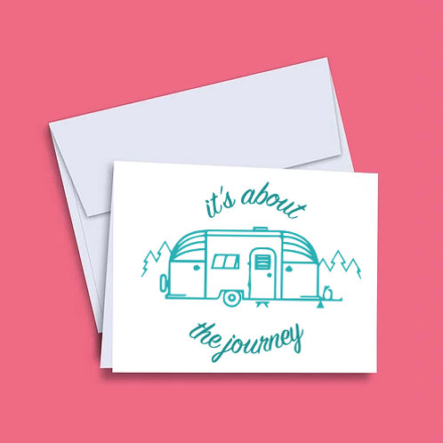 'It's About the Journey' Airstream Card