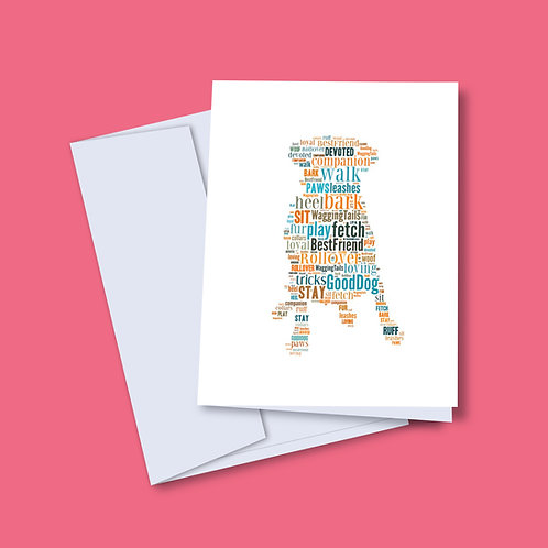 'Dog Words' Card