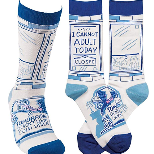 'I Can't Adult Today' Women's Socks