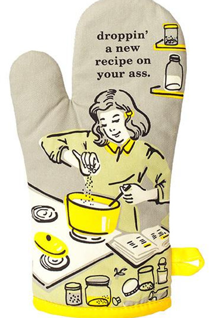 'Droppin' A New Recipe on Your Ass' Oven Mitt
