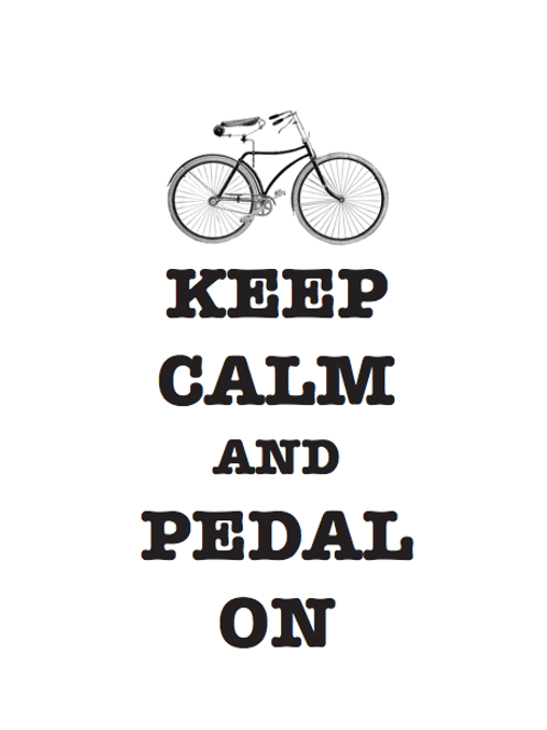 'Keep Calm and Pedal On' Artwork