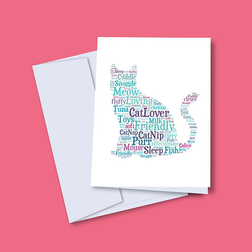 'Cat Words' Card