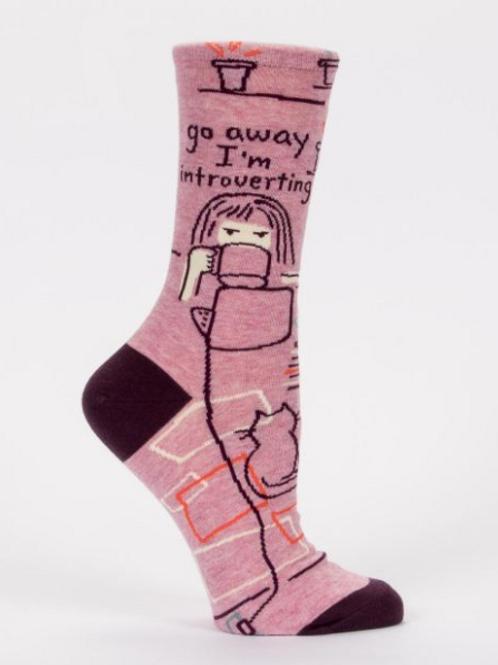 'Go Away I'm Introverting' Women's Socks