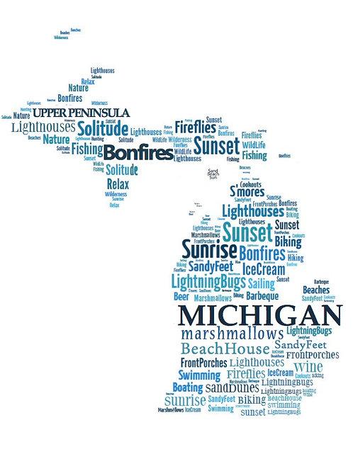 Summer 'Michigan Words' Artwork
