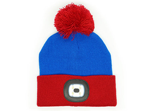 Blue Kids Rechargeable LED Beanie