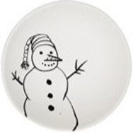 Snowman with Carrot Nose bowl