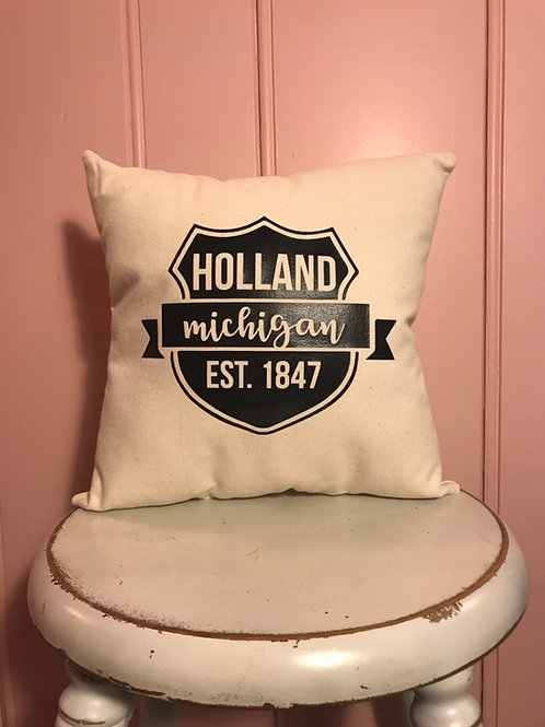 Holland Michigan Established Pillow