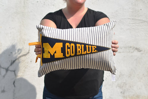 University of Michigan Pennant Pillow