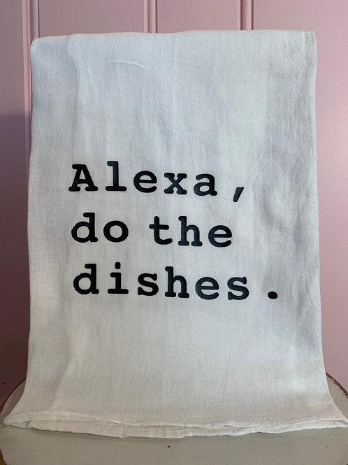 """Alexa, do the dishes."" Kitchen Towel"