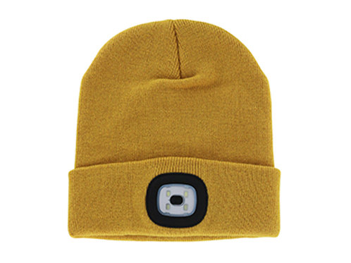 Mustard Rechargeable LED Beanie