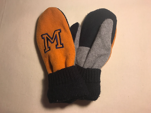 University of Michigan Embroidered Mittens