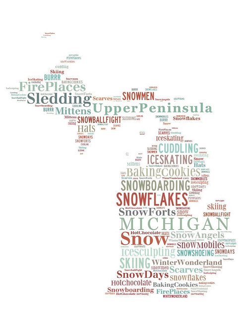 Winter 'Michigan Words' Artwork