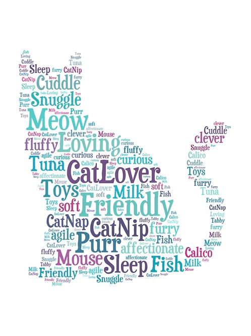 'Cat Words' Artwork