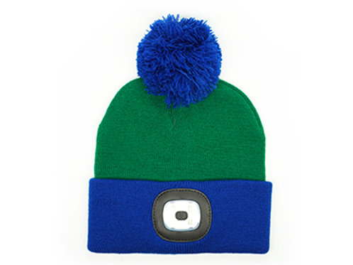 KID'S Blue & Green Rechargeable LED Beanie