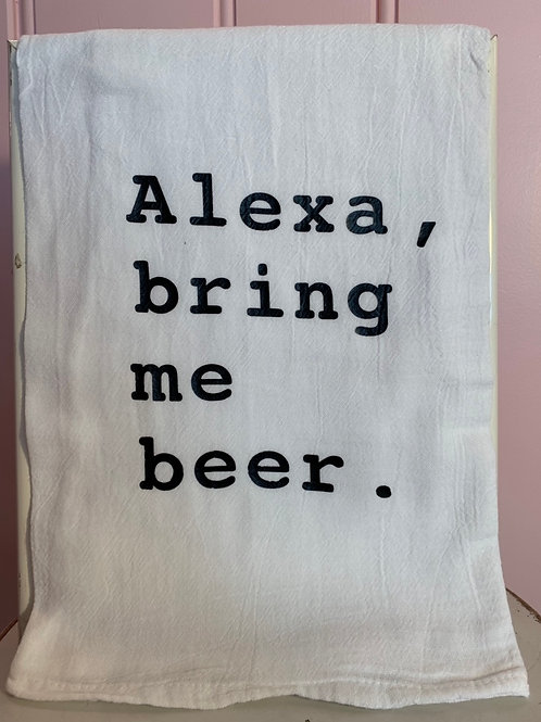 """Alexa, bring me beer"" Kitchen Towel"
