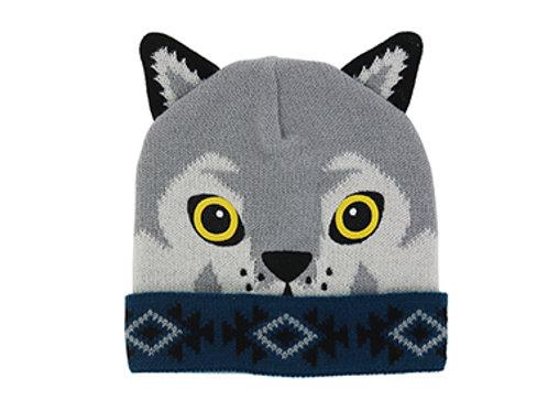 Kid's Wolf Knit Hat