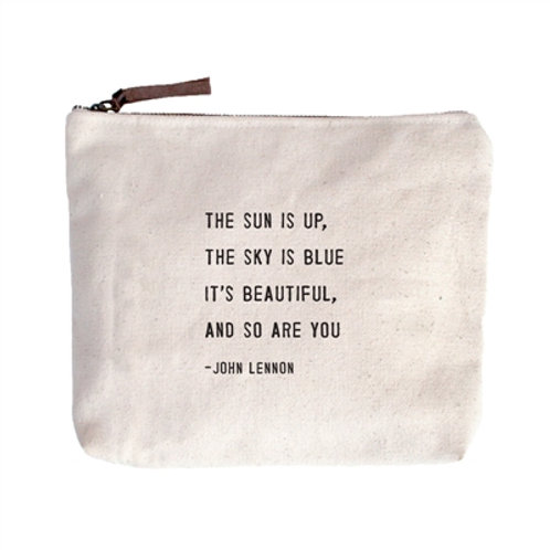The Sun Is Up.  Canvas Zipper Bag