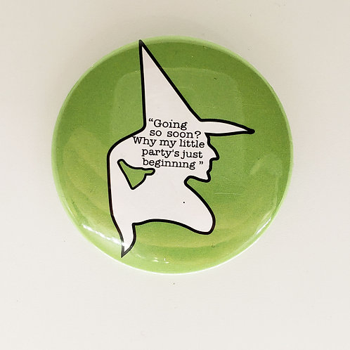 Wicked Witch Silhouette Pin
