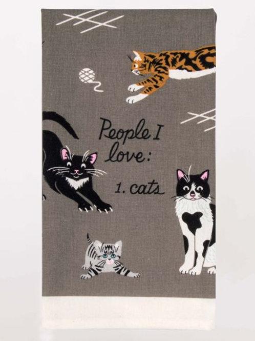 People I Love/Cat's Dish Towel